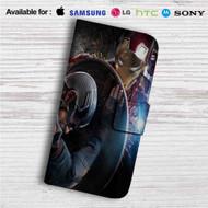 Iron Man vs Captain Captain America Civil War Custom Leather Wallet iPhone 4/4S 5S/C 6/6S Plus 7| Samsung Galaxy S4 S5 S6 S7 Note 3 4 5| LG G2 G3 G4| Motorola Moto X X2 Nexus 6| Sony Z3 Z4 Mini| HTC ONE X M7 M8 M9 Case