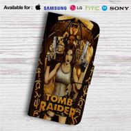 Lara Croft Tomb Raider Custom Leather Wallet iPhone 4/4S 5S/C 6/6S Plus 7| Samsung Galaxy S4 S5 S6 S7 Note 3 4 5| LG G2 G3 G4| Motorola Moto X X2 Nexus 6| Sony Z3 Z4 Mini| HTC ONE X M7 M8 M9 Case