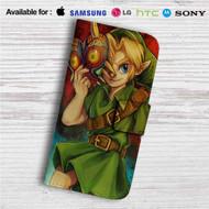 Link The Legend of Zelda Majoras Mask Custom Leather Wallet iPhone 4/4S 5S/C 6/6S Plus 7| Samsung Galaxy S4 S5 S6 S7 Note 3 4 5| LG G2 G3 G4| Motorola Moto X X2 Nexus 6| Sony Z3 Z4 Mini| HTC ONE X M7 M8 M9 Case