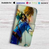 Link The Legend of Zelda Wii Custom Leather Wallet iPhone 4/4S 5S/C 6/6S Plus 7| Samsung Galaxy S4 S5 S6 S7 Note 3 4 5| LG G2 G3 G4| Motorola Moto X X2 Nexus 6| Sony Z3 Z4 Mini| HTC ONE X M7 M8 M9 Case
