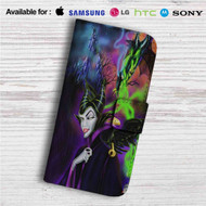 Maleficent Custom Leather Wallet iPhone 4/4S 5S/C 6/6S Plus 7| Samsung Galaxy S4 S5 S6 S7 Note 3 4 5| LG G2 G3 G4| Motorola Moto X X2 Nexus 6| Sony Z3 Z4 Mini| HTC ONE X M7 M8 M9 Case