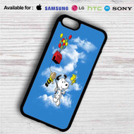 Snoopy The Peanuts Up on your case iphone 4 4s 5 5s 5c 6 6plus 7 Samsung Galaxy s3 s4 s5 s6 s7 HTC Case