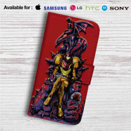 Samus Metroid Custom Leather Wallet iPhone 4/4S 5S/C 6/6S Plus 7| Samsung Galaxy S4 S5 S6 S7 Note 3 4 5| LG G2 G3 G4| Motorola Moto X X2 Nexus 6| Sony Z3 Z4 Mini| HTC ONE X M7 M8 M9 Case