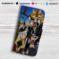 Soul Eater Custom Leather Wallet iPhone 4/4S 5S/C 6/6S Plus 7| Samsung Galaxy S4 S5 S6 S7 Note 3 4 5| LG G2 G3 G4| Motorola Moto X X2 Nexus 6| Sony Z3 Z4 Mini| HTC ONE X M7 M8 M9 Case
