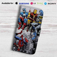 Superheroes Breakfast Of Champions Custom Leather Wallet iPhone 4/4S 5S/C 6/6S Plus 7| Samsung Galaxy S4 S5 S6 S7 Note 3 4 5| LG G2 G3 G4| Motorola Moto X X2 Nexus 6| Sony Z3 Z4 Mini| HTC ONE X M7 M8 M9 Case