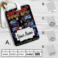 ACDC's Highway to Hell Custom Leather Luggage Tag