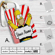 Homer Simpsons Metallica Custom Leather Luggage Tag