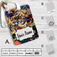 Justice League vs Teen Titans Custom Leather Luggage Tag