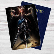 Artorias of the Abyss and Black Dragon Kalameet Custom Leather Passport Wallet Case Cover