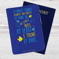 Disney Dory Quotes Custom Leather Passport Wallet Case Cover