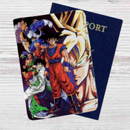Dragon Ball Z Fighter Custom Leather Passport Wallet Case Cover