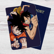 Goku Dragon Ball Luffy One Piece Custom Leather Passport Wallet Case Cover