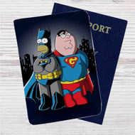 Homer Simpson Vs Peter Griffin Custom Leather Passport Wallet Case Cover