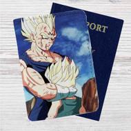 Majin Vegeta and Trunks Dragon Ball Z Custom Leather Passport Wallet Case Cover