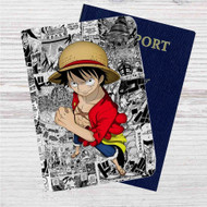 One Piece Luffy Custom Leather Passport Wallet Case Cover