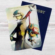 One Piece Trafalgar D Water Law Custom Leather Passport Wallet Case Cover