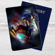 Shaco League of Legends Custom Leather Passport Wallet Case Cover