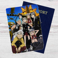 Soul Eater Custom Leather Passport Wallet Case Cover