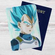 Super Saiyan Blue Vegeta Dragon Ball Super Custom Leather Passport Wallet Case Cover