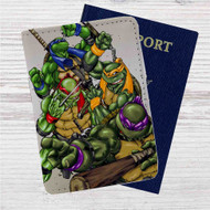 Teenage Mutant Ninja Turtles Custom Leather Passport Wallet Case Cover
