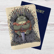 Totoro Umbrella Game of Thrones Custom Leather Passport Wallet Case Cover