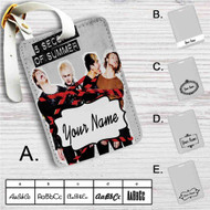 5 Seconds of Summer Custom Leather Luggage Tag