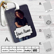 Alessia Cara Photo Custom Leather Luggage Tag