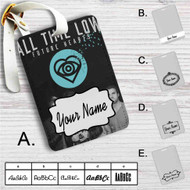 All Time Low Future Hearts Custom Leather Luggage Tag