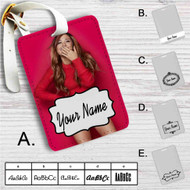 Ariana Grande Red Custom Leather Luggage Tag