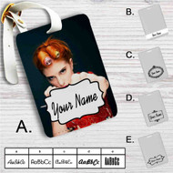 Hayley Williams from Paramore Band Custom Leather Luggage Tag