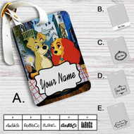 Lady and the Tramp Disney Custom Leather Luggage Tag