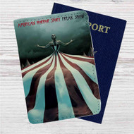 American Horror Story Freak Show Custom Leather Passport Wallet Case Cover