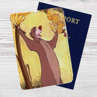 Baloo Disney The Jungle Book Custom Leather Passport Wallet Case Cover