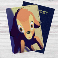 Bambi Disney Face Custom Leather Passport Wallet Case Cover