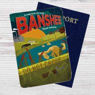 Banshee Custom Leather Passport Wallet Case Cover