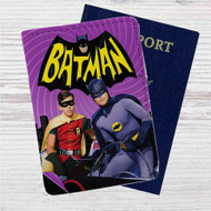 Batman and Robin Custom Leather Passport Wallet Case Cover