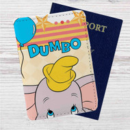 Disney Dumbo Custom Leather Passport Wallet Case Cover