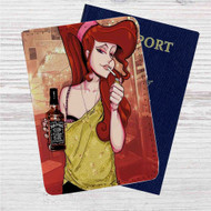 Disney Hercules Megara Smoke Custom Leather Passport Wallet Case Cover