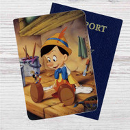 Disney Pinocchio Custom Leather Passport Wallet Case Cover