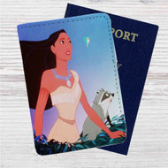 Disney Pocahontas Meeko and FLit Custom Leather Passport Wallet Case Cover