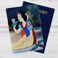 Disney Snow White Drunk Custom Leather Passport Wallet Case Cover