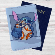 Disney Stitch and Android BB8 Star Wars Custom Leather Passport Wallet Case Cover