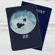 Harry Potter Go to The Moon Custom Leather Passport Wallet Case Cover