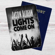 Jason Aldean Lights Come On Custom Leather Passport Wallet Case Cover