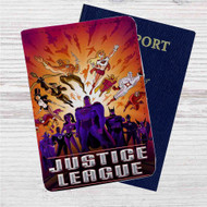 Justice League Superheroes Custom Leather Passport Wallet Case Cover
