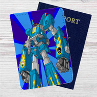 Megas XLR Robot Custom Leather Passport Wallet Case Cover
