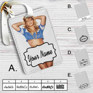Sexy Beyonce Custom Leather Luggage Tag