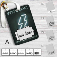 Steve Aoki Lightning Strikes Custom Leather Luggage Tag