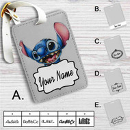 Stitch Disney Custom Leather Luggage Tag