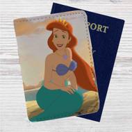 Princess Ariel The Little Mermaid Custom Leather Passport Wallet Case Cover